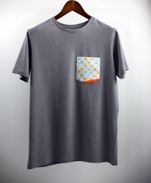 Basic Bio Taschen Shirt (men) Foxlove Grey