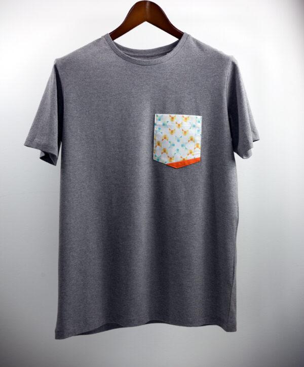 Basic Bio Taschen Shirt (men) Foxlove Grey