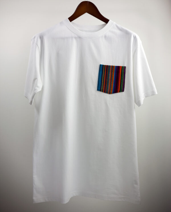 Basic Bio Taschen Shirt (men) Stripes White