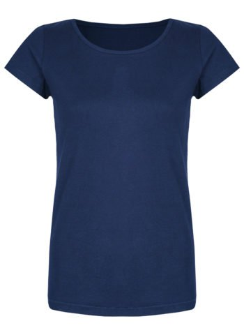 Basic Bio-T-Shirt Rundhals (Ladies) Nr.2 Azure Blue