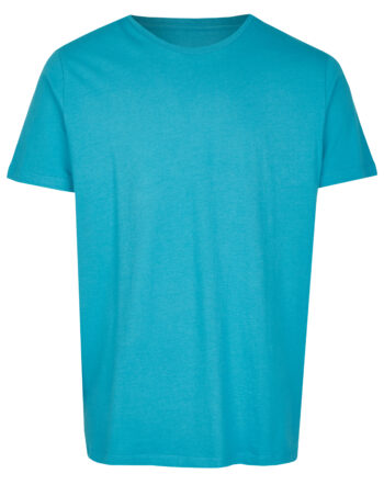 Basic Bio T-Shirt Rundhals (men) Nr.2 Cyan Blue
