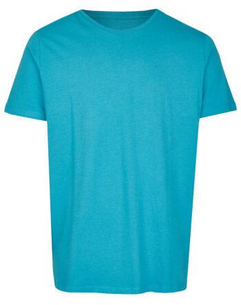 Basic Bio T-Shirt Rundhals (men) Nr.2 Cyan Blue
