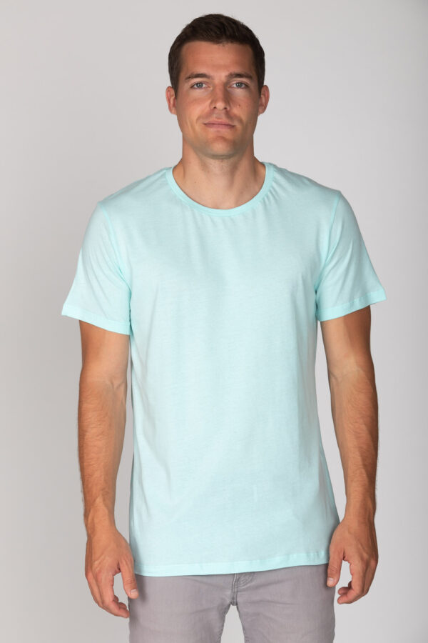 Basic Bio T-Shirt Rundhals (men) Nr.2 Mint Blue
