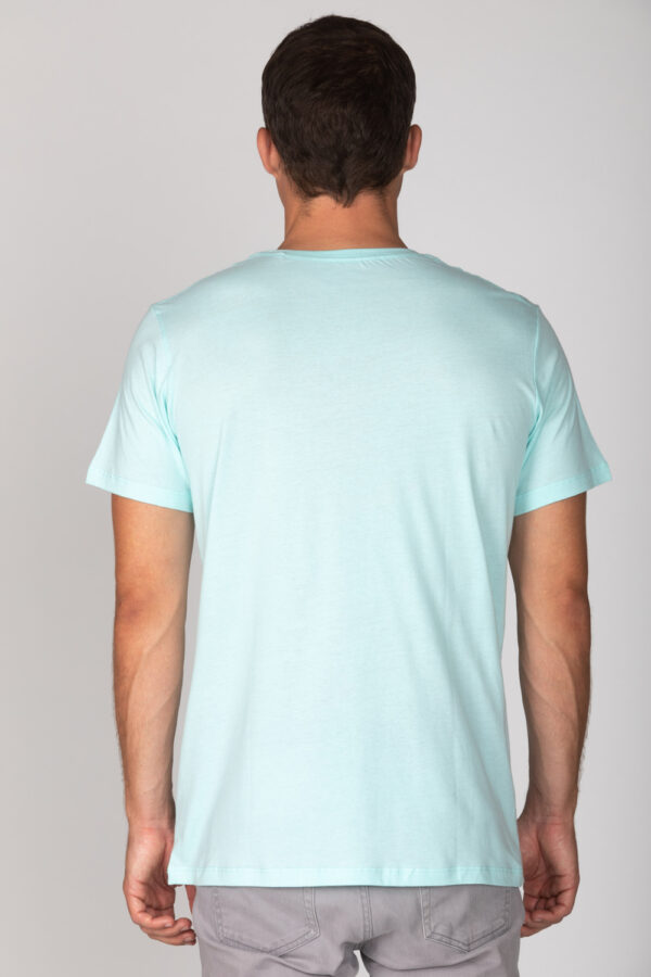 Basic Bio T-Shirt Rundhals (men) Nr.2 Mint Blue