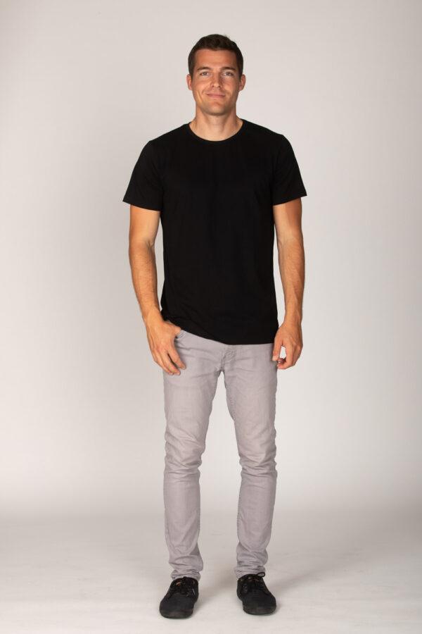 Basic Bio T-Shirt Rundhals (men) Nr.2 Black