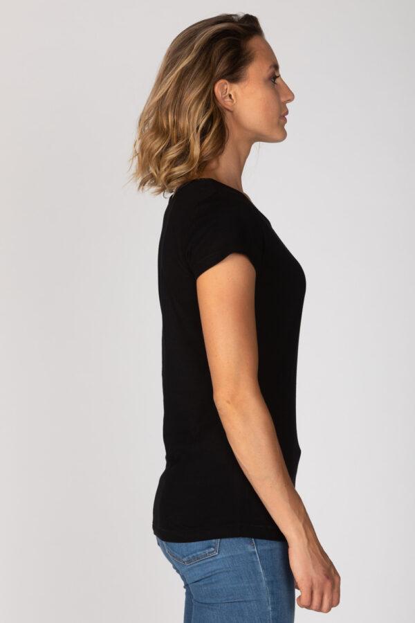 Basic Bio-T-Shirt Rundhals (Ladies) Nr.2 Black