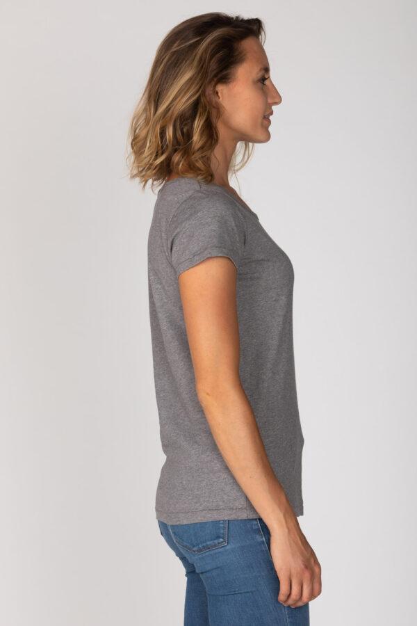 Basic Bio-T-Shirt Rundhals (Ladies) Nr.2 Grey