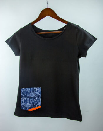 Basic Bio Taschen Shirt (ladies) Bluebird Black
