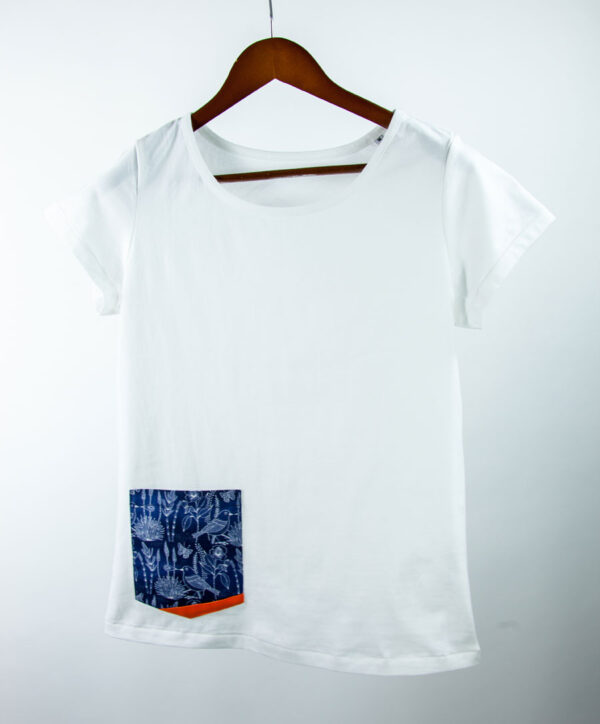 Basic Bio Taschen Shirt (ladies) Bluebird White