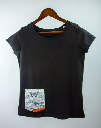 Basic Bio Taschen Shirt (ladies) Butterfly Black