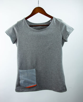 Basic Bio Taschen Shirt (ladies) Rare Denim Grey