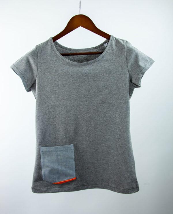 Basic Bio Taschen Shirt (ladies) Rare Denim Grey