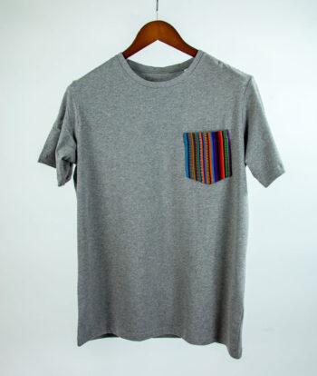 Basic Bio Taschen Shirt (men) Stripes Grey