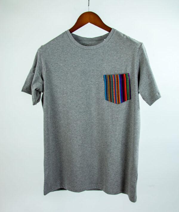 Basic Bio Taschen Shirt (men) Stripes Grey