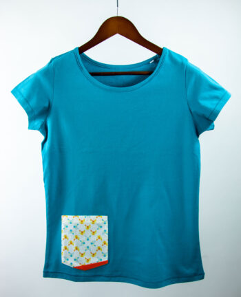 Basic Bio Taschen Shirt (ladies) Foxlove Cyan