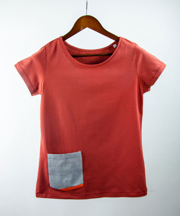 Basic Bio Taschen Shirt (ladies) Rare Denim Red