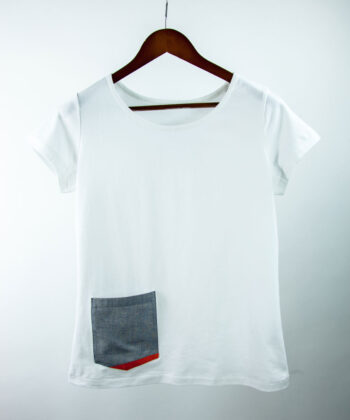 Basic Bio Taschen Shirt (ladies) Rare Denim White