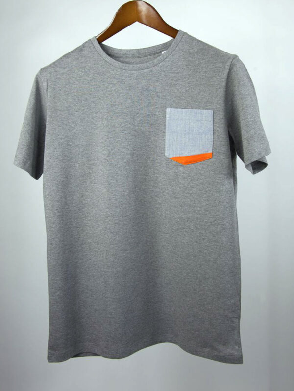 Basic Bio Taschen Shirt (men) Rare Denim Grey
