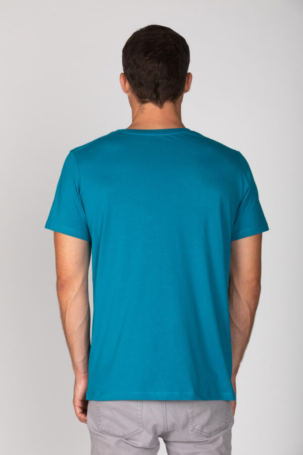 Basic Bio T-Shirt Rundhals (men) Nr.2 Petrol