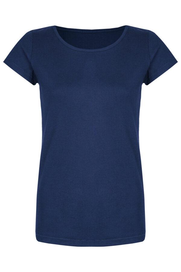 Basic Bio-T-Shirt Rundhals (Ladies) Nr.2 Azure Blue