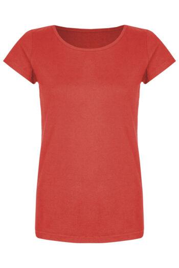 Basic Bio-T-Shirt Rundhals (Ladies) Nr.2 Coral Red