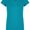 Basic Bio-T-Shirt Rundhals (Ladies) Nr.2 Cyan Blue - S