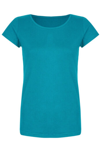 Basic Bio-T-Shirt Rundhals (Ladies) Nr.2 Cyan Blue