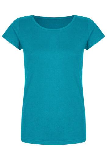 Basic Bio-T-Shirt Rundhals (Ladies) Nr.2 Cyan Blue