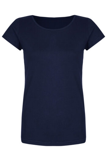 Basic Bio-T-Shirt Rundhals (Ladies) Nr.2 Nightblue