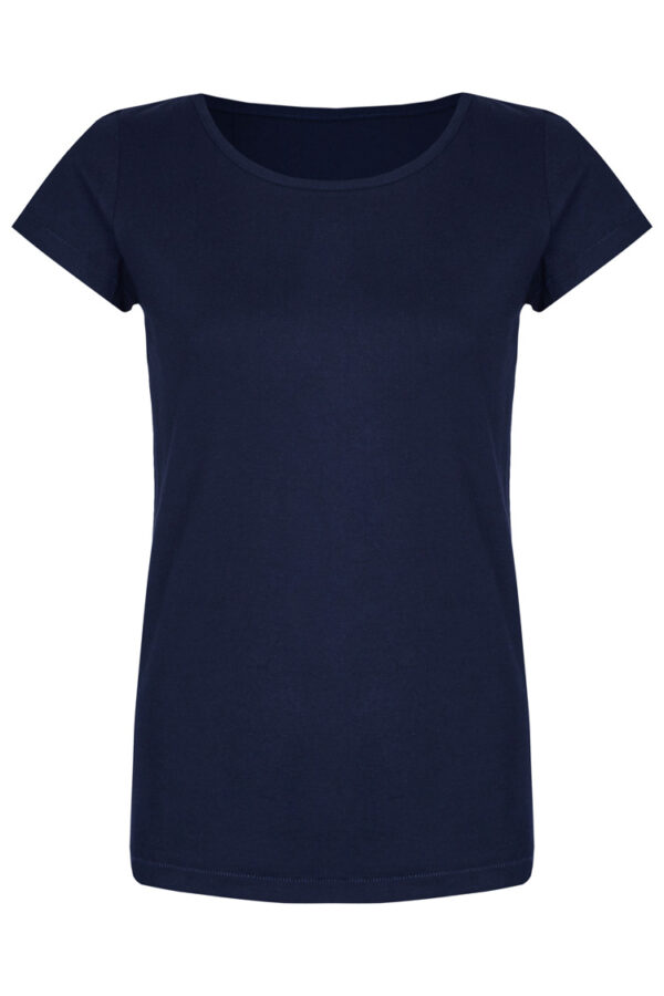 Basic Bio-T-Shirt Rundhals (Ladies) Nr.2 Nightblue