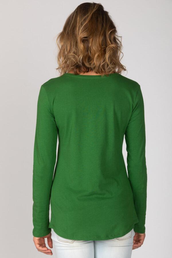 Basic Bio Langarm T-Shirt (Ladies) Nr.2 Green