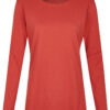 Basic Bio Langarm T-Shirt (Ladies) Nr.2 Red - S