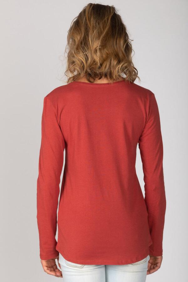 Basic Bio Langarm T-Shirt (Ladies) Nr.2 Red