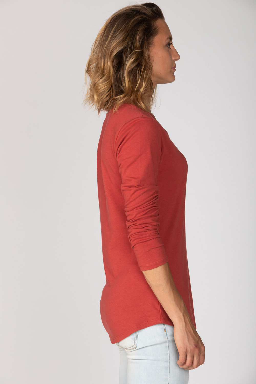 Basic Bio Langarm T-Shirt (Ladies) Nr.2 Red - brandless-shop