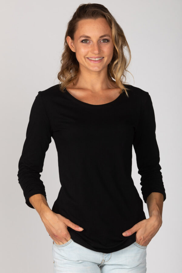 Basic Bio Langarm T-Shirt (Ladies) Nr.2 Black