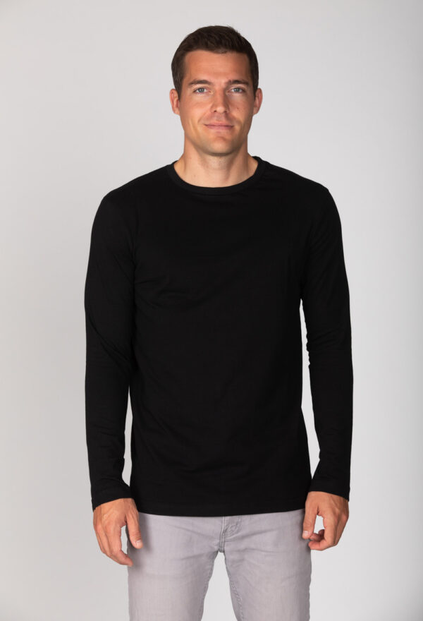 Basic Bio Langarm T-Shirt (men) Nr.2 Black