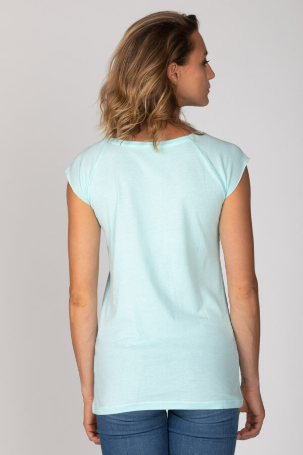 Basic Bio-T-Shirt Rundhals (Ladies) Nr.3 Mint Blue