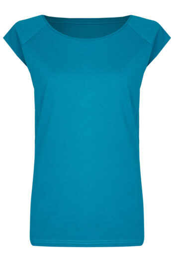 Basic Bio-T-Shirt Rundhals (Ladies) Nr.3 Petrol