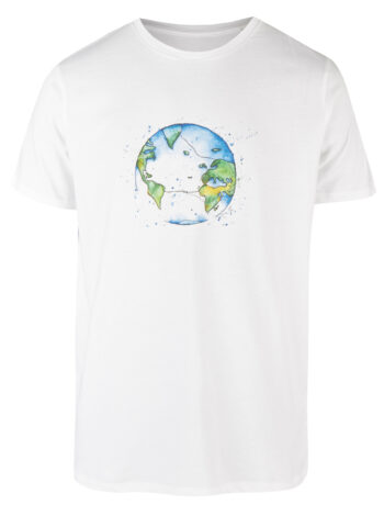 Basic Bio T-Shirt (men) Bubble Earth white