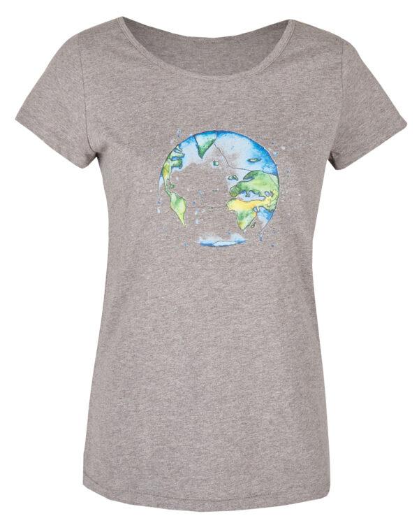 Basic Bio T-Shirt (ladies) Bubble Earth Grey
