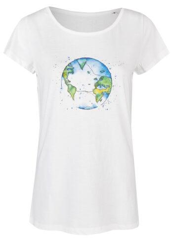 Basic Bio T-Shirt (ladies) Bubble Earth White