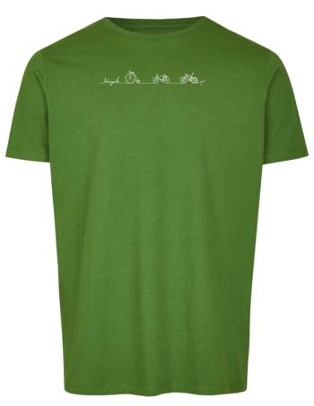 Basic Bio T-Shirt Bicycle Line Green