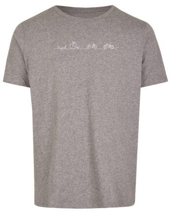Basic Bio T-Shirt Bicycle Line Grey