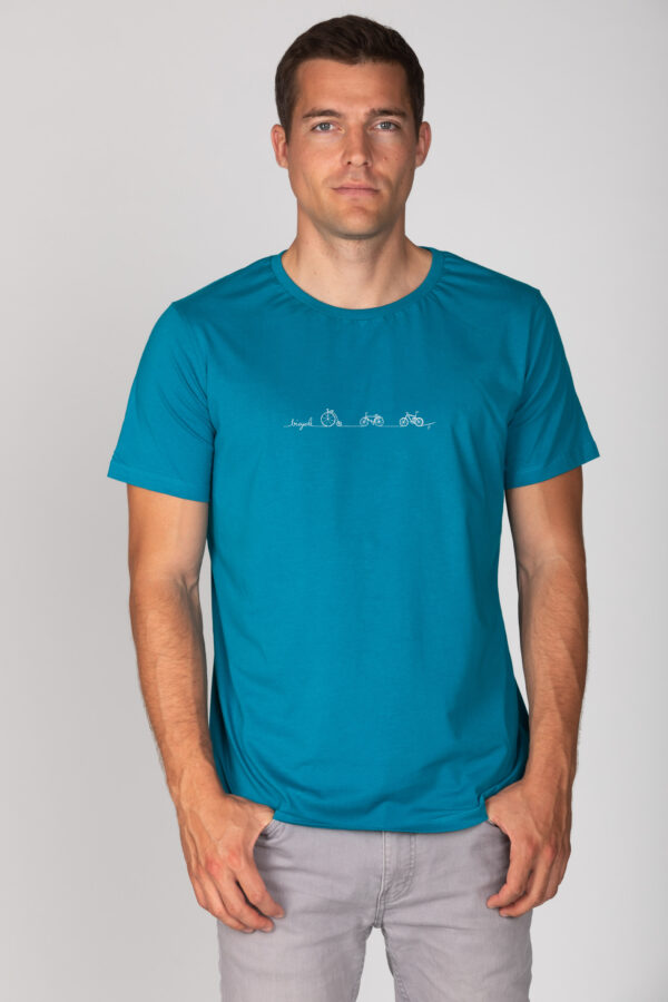 Basic Bio T-Shirt (men) Bicycle Line petrol