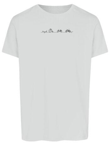 Basic Bio T-Shirt Bicycle Line White