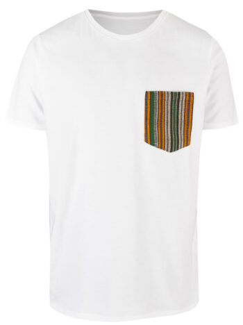 Basic Bio Taschen Shirt (men) Fine Line White