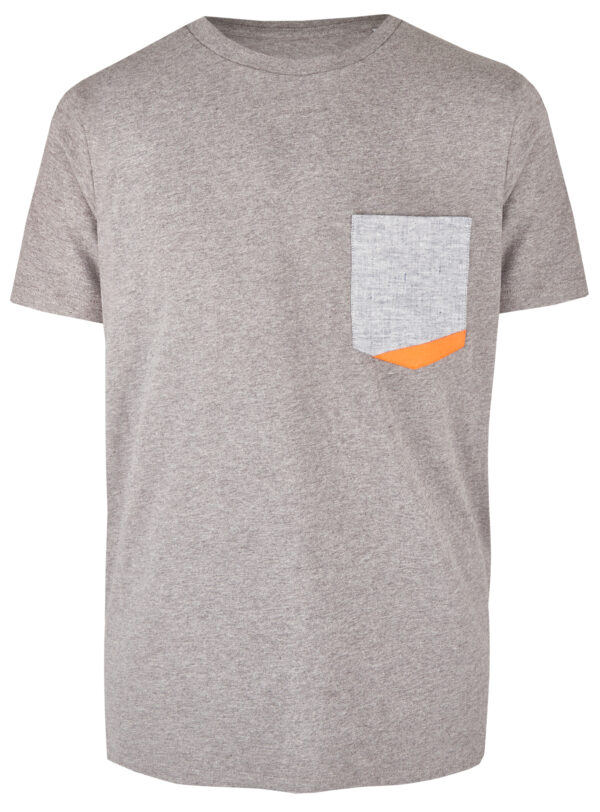Basic Bio Taschen Shirt (men) Hemp Denim Grey