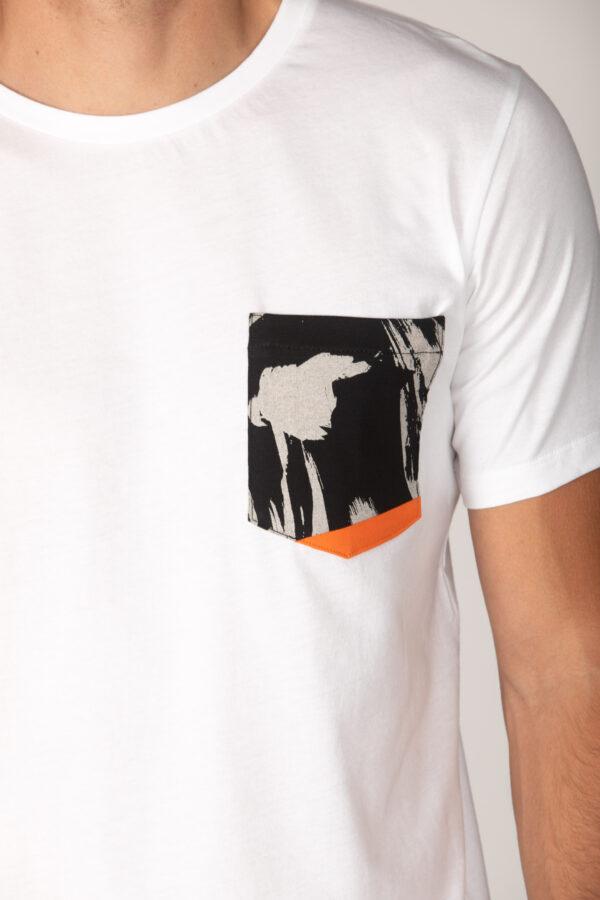 Basic Bio Taschen Shirt (men) Curves White