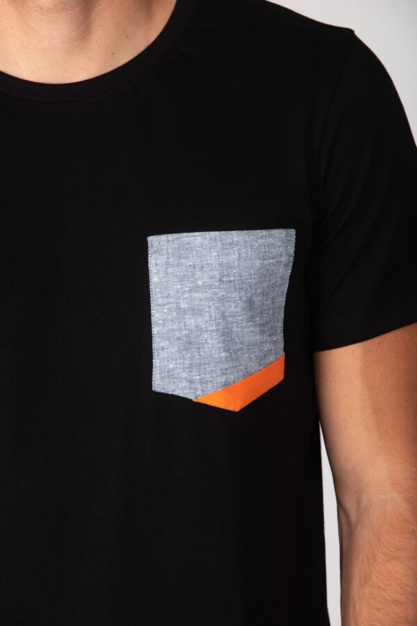 Basic Bio Taschen Shirt (men) Hemp Denim Black