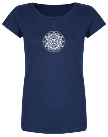 Basic Bio T-Shirt (ladies) Anahata Chakra azur